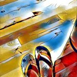 rainbow_sandals-digital image